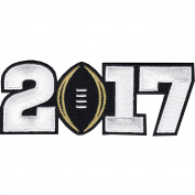 NCAA 2017 College National Championship Playoff Game Jersey Patch Black Alabama Clemson