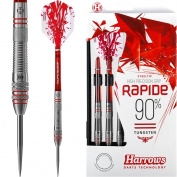 Harrows Rapide Darts - Steel Tip - Knurled - 24g - Style 2 - FREE Darts Corner Checkout Card