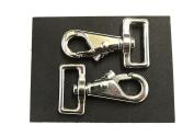 "x2, 1""/25mm Nickel Plated Horse/Dog Snap Rug Clip/Trigger Hook"