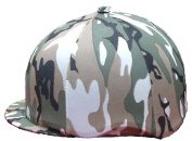 Camouflage Lycra Skull Cover / Riding Hat Silk