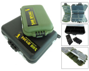 2 x Roddarch© Small Clamshell Fishing Tackle Boxes for Lures Spinners Hooks Flies