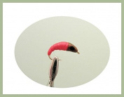 12 pack of Red/Pink Maggot Fishing Flies. Size 10