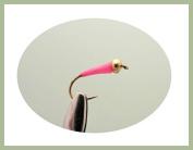 12 pack of Gold head Buzzer - Sight Bob Killer - Pink Fishing Flies. Mixed sizes 10/12/14