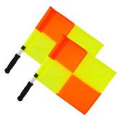 Optimum Training Linesman Flag Set - Orange/Yellow