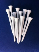 """100 White wooden JL Golf tees 69 / 70mm long (2 3/4"""") *NEW*"""