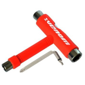 Venom Skateboard Red 5-Way T Tool, All in one Skate Tool!