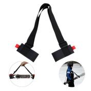 Portable Adjustable Thick Ski Carrier Skateboard Shoulder Straps Double Board Handle Binding Belt Ski Straps Black