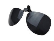 Zelta Black Clip On Flip Up Polarised Lenses, Aviator Plastic Sunglasses Lenses Glasses for Driving Fishing Travelling