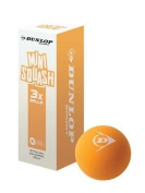 New Dunlop Play Mini Squash Ball Juniors Playing Orange Racket Balls Pack Of 3