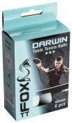 Fox TT Darwin 3 Star Table Tennis Balls (Pack of 6) - White