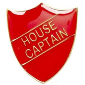 House Captain Shield Badge Red SB015R by Trophy