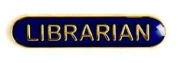School Librarian Badge Blue