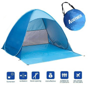 Pop Up Beach Tent, Augymer UV Protection Portable 2 Person Folding Pop Up Sun Shelters Shade Lightweight Hiking Camping Beach Canopy Cabana Backpacking Tents