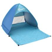 Beach Tent, ODOLAND Sunshade Basecamp Shelter Automatic Pop Up Instant Portable Outdoors Quick Cabana Beach Tent Folding Sun Shelter, 110cm*200cm*150cm, Blue