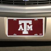 Texas A & M Aggies Maroon Metal Licence Plate