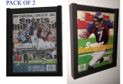 DisplayGifts PACK of 2 Magazine Display Cases Frames for CURRENT Sports Illustrated or Comic Book BH02-Q2