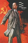 Lenin lived, lives, & will go on living POSTER Viktor Ivanov Soviet Union 1967 24X36