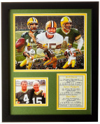 Legends Never Die Green Bay Packers QB's Framed Photo Collage, 28cm x 36cm