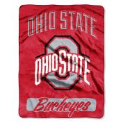 "NCAA Ohio State Buckeyes ""Varsity"" Micro-Raschel Throw, Red, 120cm x 150cm"