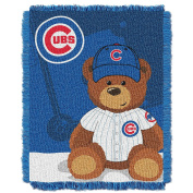 MLB Chicago Cubs Field Woven Jacquard Baby Throw Blanket, 90cm x 120cm