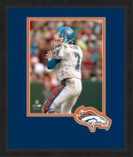 NFL Denver Broncos John Elway 20cm x 25cm Full Colour Logo Mat Photograph, Orange