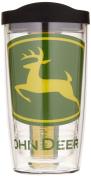 Tervis John Deere Logo Colossal Wrap Tumbler with Black Lid, 470ml