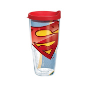 Tervis 1160206 Tumbler with Red Lid, 710ml, Superman