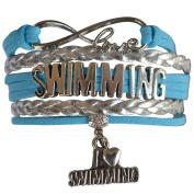 Swim Bracelet- Girls Swimming Bracelet- Swim Jewellery - Perfect Gift For Swimmers