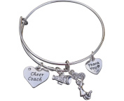 Cheer Coach Bracelet- Cheerleading Coach Bracelet- Bangle Bracelet- Cheer Jewellery - Perfect Gift For Cheer Coaches