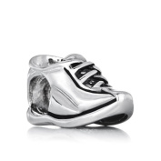 Charmed Craft Fashion Running Sports Shoe Charms Silver Plated New Beads Fit Pandora Bracelet