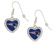 New England Patriots Heart Earrings