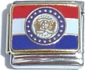 Missouri State Flag Italian Charm