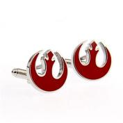 BTS Star Wars Red Rebel Alliance Symbol Cufflinks Men's Novelty Cuff Links YH-1757B