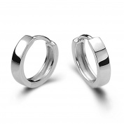 SoooKu Men Women 925 Sterling Silver Plated Studs Earrings Hoop Huggie Gift