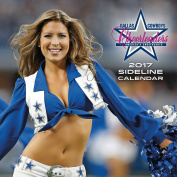 Turner Licencing 2017 Dallas Cowboys Cheerleaders Wall Calendar, 30cm x 30cm