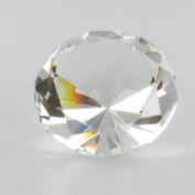 Clear Crystal Glass Diamond Shaped Paperweight 5.7cm