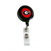 NCAA Georgia Bulldogs Sports Team Logo Retractable Badge Reel Id Ticket Clip