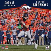 Turner Perfect Timing 2015 Denver Broncos Team Wall Calendar, 30cm x 30cm