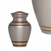 Funeral Urn by Liliane- Keepsake Cremation Urn for Human Ashes-Hand Made in Brass-Fits a Small Amount of Cremated Remains of Adults as well as pets- Display at Home or Office