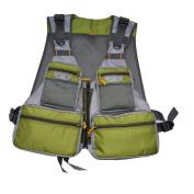 MDSTOP Mens Pockets Jacket Outdoors Travels Sports Vest , Fishing Vest Jacket Mesh Vest Adjustable Size with 14 Pockets