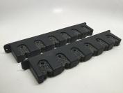 MARINE BOAT BLACK PLASTIC ROD STORAGE RACK W/ FOAM HORIZONTAL 6 ROD SCRATCH-FREE