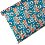 NFL Miami Dolphins Team Wrapping Paper, Green