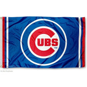Chicago Cubs Circle Logo Flag