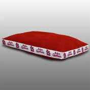 MLB St. Louis Cardinals Dog Bed, 26 x 37, Bright Red