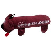 Mississippi State University Bear Tube Dog Toy