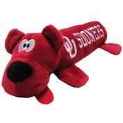 University of Oklahoma Bear Tube Dog Toy