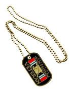 USAF Operation Iraqi Freedom VET Veteran Ribbon Symbol - ALL Metal Military Dog Tag Luggage Chain Necklace
