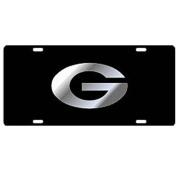 Georgia Bulldogs Black w/Silver G Car Tag