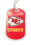 Kansas City Chiefs Dog Tag Domed Necklace Charm Set