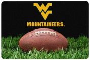 NCAA West Virginia Mountaineers Classic Football Pet Bowl Mat, Large